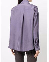 Luisa Cerano Long sleeve silk shirt Morado