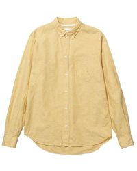 Norse Projects Osvald BD Cotton Linen - Giallo