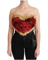 Dolce & Gabbana Heart Bustier Corset - Rood