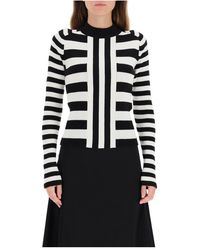 MSGM Striped Sweater - Wit