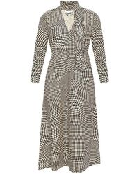 Ganni Patterned dress - Neutro