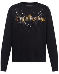 John Richmond Sweatshirt with logo - Nero