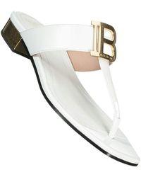 Balmain Flache Sandalen - Blanc