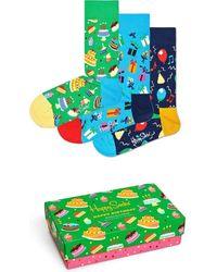 Happy Socks Xbir08-0100 Happy Birthday - Groen
