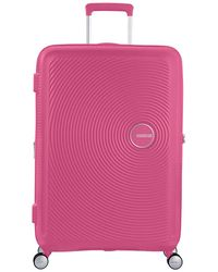 American Tourister Large Trolley 77/28 Exp Soundbox Spinner - Roze