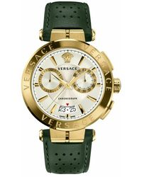 Versace Aion Chrono Strap Watch - Gelb