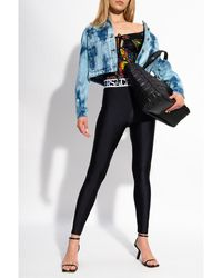 Versace Jeans Couture Bodysuit with logo Negro