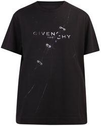 Givenchy T-shirt Met Print - Zwart