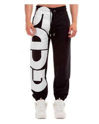 Gcds Macro Logo Sweatpants - Zwart