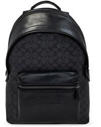 COACH Charter Backpack With Logo - Zwart
