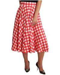 Dolce & Gabbana Midi Skirt - Rood