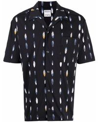 Marcelo Burlon Feather Print Shirt - Zwart