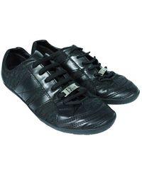 Dior Baskets d'embellissement de garniture de cuir de modèle de Cannage - état d'occasion très bon - Noir