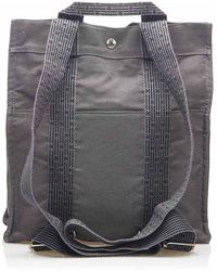 Hermès Herline Canvas Backpack - Grigio