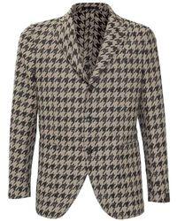 Gabriele Pasini Jacket With Pattern - Naturel