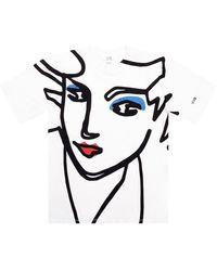 Victoria Beckham Printed T-shirt - Wit