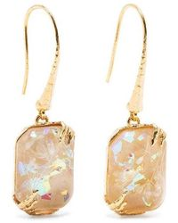 Etro Iridescent resin pendent earrings - Marron