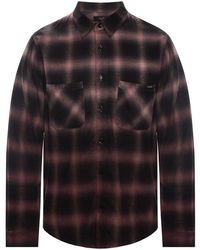 Amiri Patterned Shirt - Zwart
