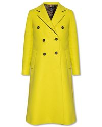 PS by Paul Smith Double-breasted Coat - Geel