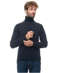 Aspesi Turtleneck Pullover - Blauw