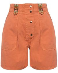 Etro Embroidered Shorts - Oranje