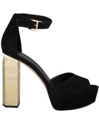 Calvin Klein Sandal Platform Petra - Zwart