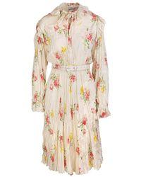 Balenciaga Off-shoulder Dress - Roze