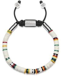 Nialaya The Tulum Collection - Beaded Bracelet With White Disc Beads