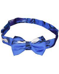 Hermès Silk Bow Tie - Bleu