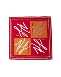 Karl Lagerfeld Autograph Foulard - Rood