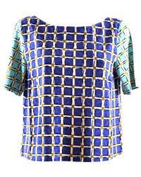 Maliparmi Geometric Print T-shirt - Blauw