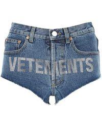 Vetements Shorts - Bleu