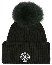 Yves Salomon Hat With Fur Pom-pom - Groen