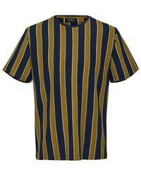 SELECTED Gestreept T-shirt - Blauw
