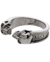 Alexander McQueen Ring - Grijs