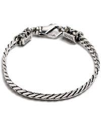 Emanuele Bicocchi Herringbone Chain Bracelet - Grijs