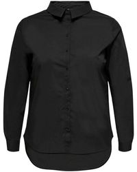 Only Carmakoma Shirt - Zwart