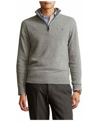 Polo Ralph Lauren Long Sleeve Sweater - Grijs