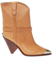Isabel Marant 'lamsy' Heeled Ankle Boots - Bruin