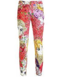 Moschino Marie Antoinette Jeans - Roze