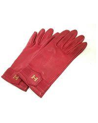 Hermès Guantes - Rojo