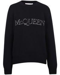 Alexander McQueen Branded Sweater - Zwart