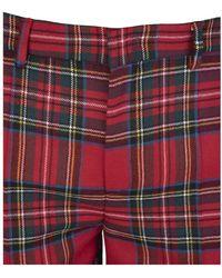 RED Valentino Plaid Pants Rojo