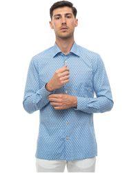 Kiton Casual Shirt - Blauw