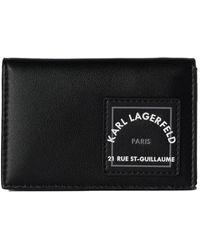 Karl Lagerfeld Sophisticated Folded Cardholder - Zwart