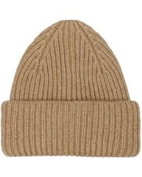 Roberto Collina Ribbed Wool CAP - Marron