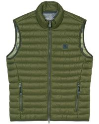 Marc O'polo Quilted Gilet - Groen