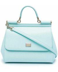 Dolce & Gabbana Medium Sicily Bag - Blauw