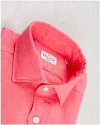Bagutta Shirt collo francese Rosa