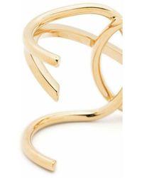 Alberta Ferretti Curved Bracelet Amarillo